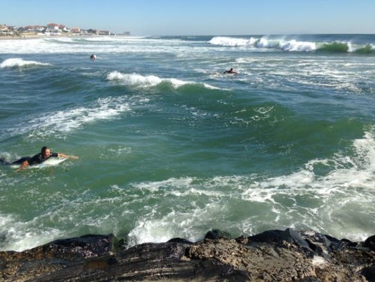 Surfers seeking some really big surf