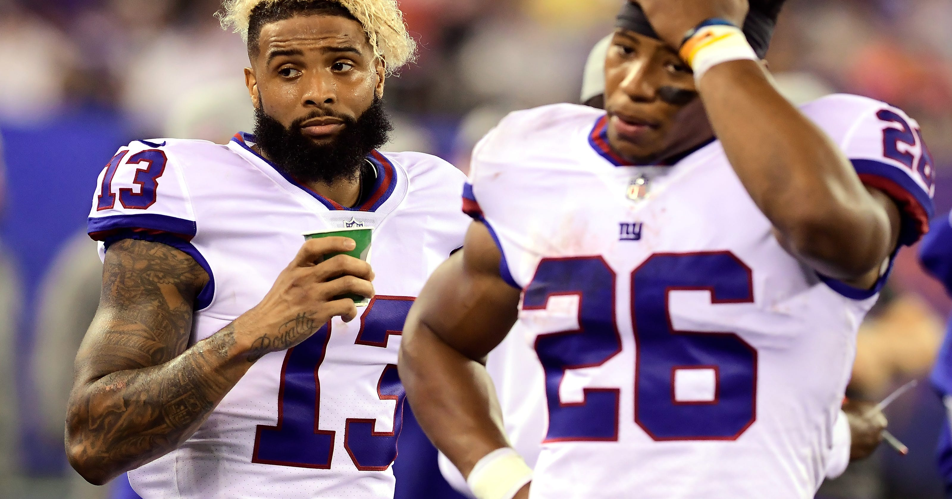 huge discount 96a76 fa34f Odell Beckham Jr. head-butts, throws punches at cooling fan ...