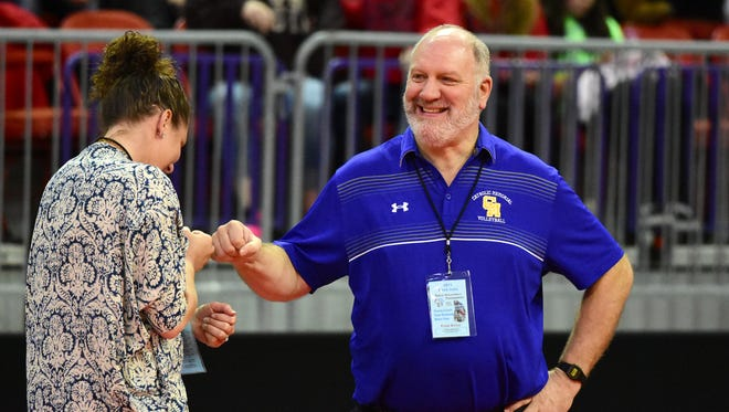 Catholic Memorial head coach Ted Schulte needs 23 victories to reach 900 for his career.