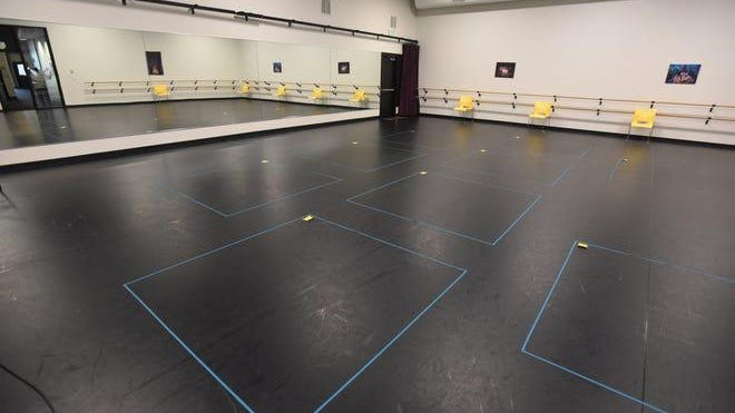 Children's Theatre of Cincinnati implemented sanitary precautions to allow students to enjoy classes this summer. Classrooms are spaced out with tape so students can be six feet apart.