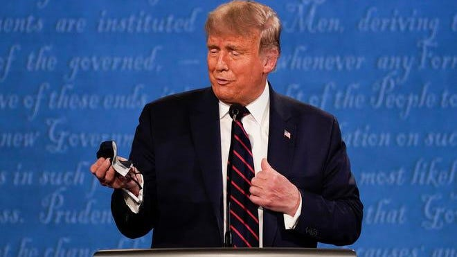 President Donald Trump  during the Presidential Debate on Sept. 29, 2020.
