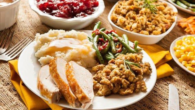 y.  Homemade turkey Thanksgiving dinner.