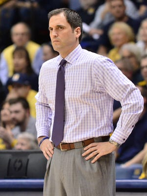 Murray State head coach Steve Prohm watches from the sidelines as they play UTEP in the first half of a NCAA basketball NIT game at the CFSB Center in Murray, Ky., Tuesday, March 17, 2014. (AP Photo/Stephen Lance Dennee)