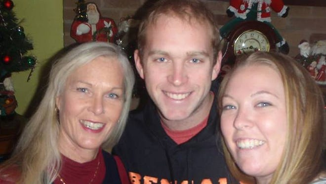 Matt Gold of Fishers pictured with his mom, Brenda (left) and sister Jenny Gold. Brenda Gold is 54 and trying out for the Cincinnati Bengals cheerleading squad.