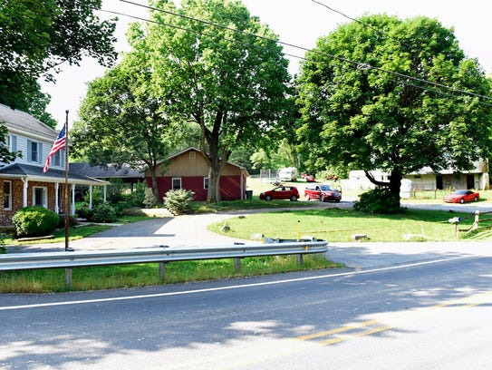 At 11026 Welch Run Road, Montgomery Township, two people