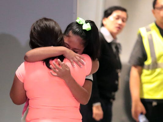 Family reunites after separation