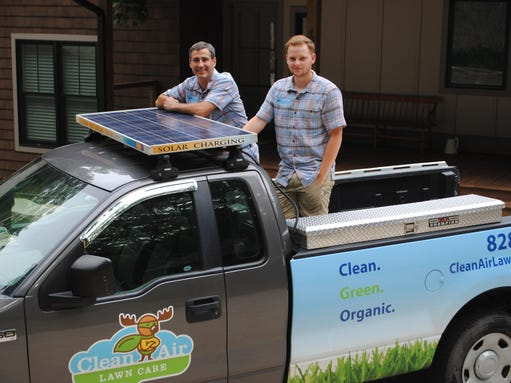 Asheville business cuts grass and carbon footprint