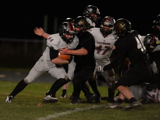 Winchester battles against Eastbrook in sectional football