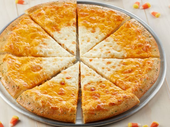 Chuck E. Cheese's special Candy Corn Pizza features