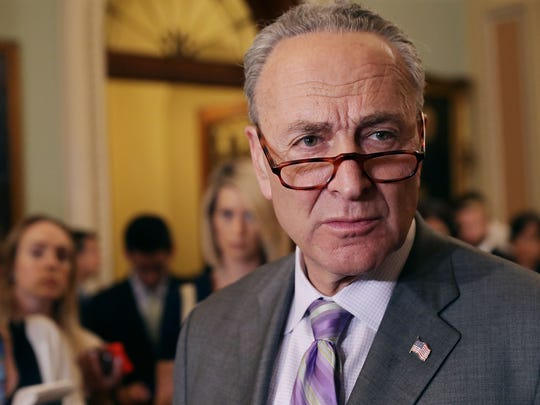 Senate Minority Leader Charles Schumer (D-NY) talks