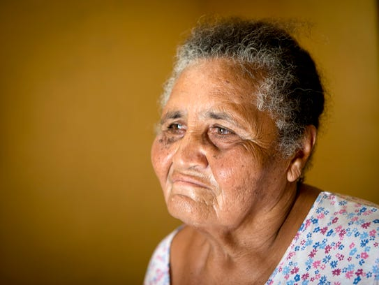 'I'm not well. I'm nervous,' Irma Torres, 75 said on Feb. 28, 2018. 'I don't sleep. I'm afraid that we get another storm and I end up drowned at sea.'