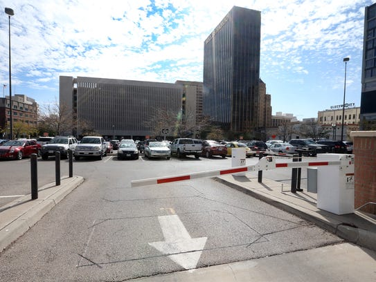 Here's a street view of the parking lot across from City Hall at 300 N. Campbell Street.