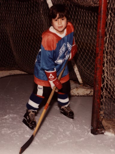 Greece resident Brian Gionta as a 5-year-old in the Rochester Youth Hockey League.