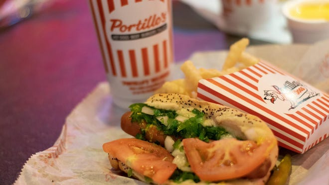 Shown here is a Chicago dog and fries from Portillo's in Peoria. It ranked as the quintessential fast food chain from Illinois on Ranker.com.