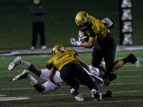 Abilene High School wide receiver Wes Berry bounces