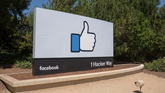 Facebook headquarters logo in Menlo Park, Calif. on June 16, 2017.