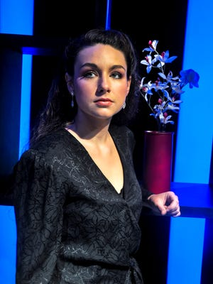 """Emily Helton in the University of Tennessee Lab Theatre production of """"Blue Window."""""""