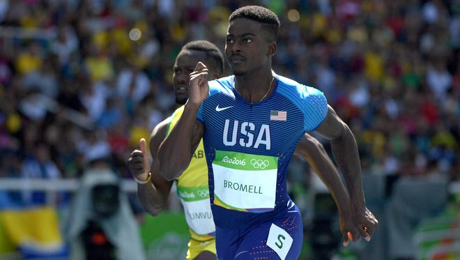 Trayvon Bromell from qualifying heats of the 100.