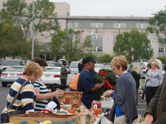Shoppers browse at the annual Inspira Auxiliary Cumberland County yard sale on Sept. 26 at Inspira Medical Center Vineland. The event raised funds for the Inspira Foundation Cumberland/Salem.