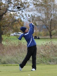Following through on a shot Saturday at state girls