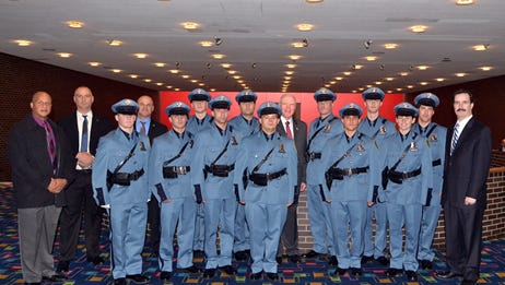 Eleven of the 60 graduates from the Westchester County Police Academy joined the New Rochelle Police Department.