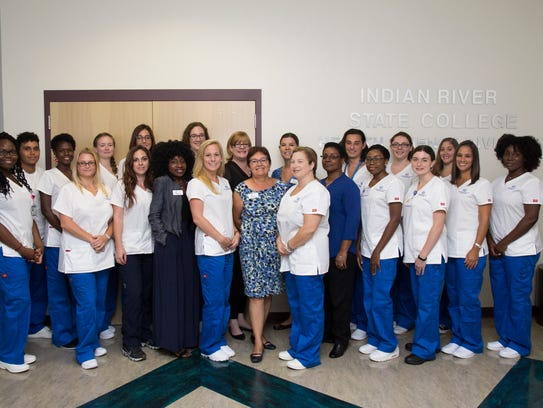 Approximately 20 RN students received Indian River