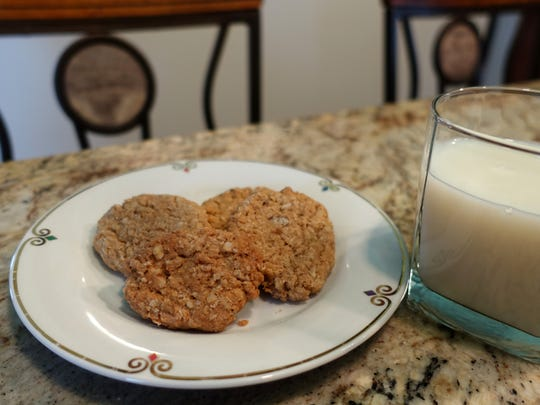 These oatmeal cookies, at once crispy and chewy, are great dunked in milk.