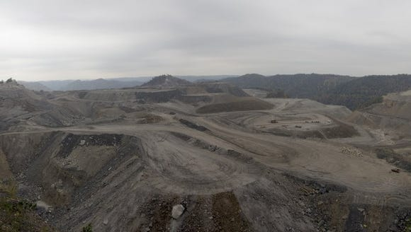 Mountaintop removal mining in West Virginia in 2008.