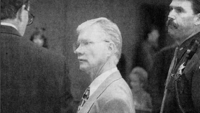Michael Lewandowski pictured in court in 1997.