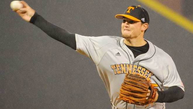 Tennessee pitcher Zack Godley pitches against Vanderbilt in a 2013 game in Nashville.