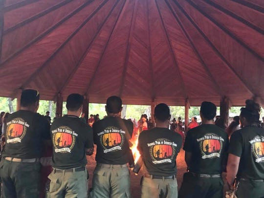 Firefighters from American Samoa and Hawaii were honored