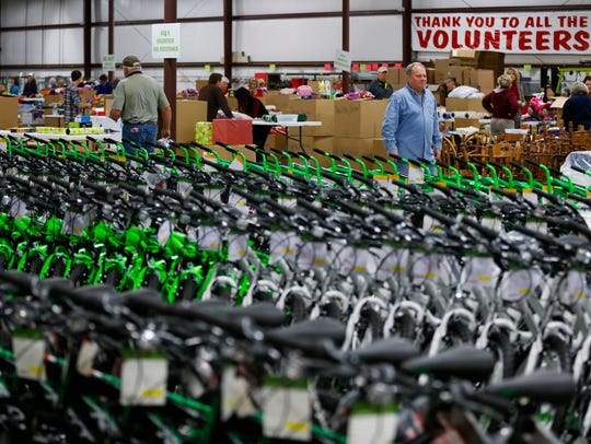 Help Give Hope assembled 379 bikes for kids adopted