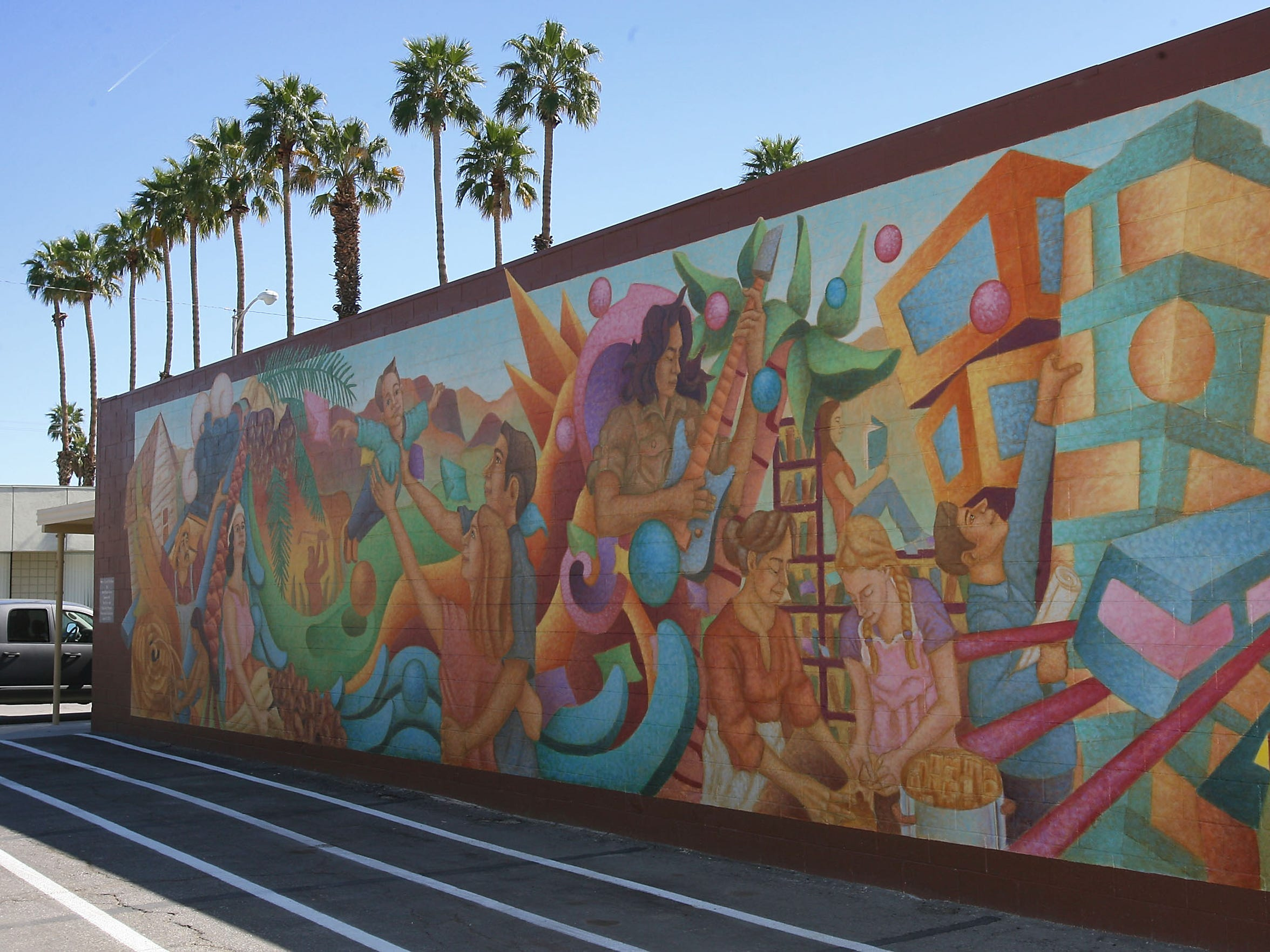 David Ocelotl Garcia, a sculptor and painter from Denver, painted the mural  on Smurr Street.