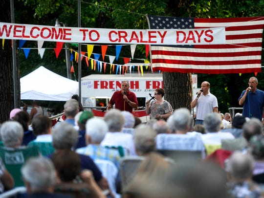 The Keystone State Quartet performs during the 39th annual Craley Days celebration in Wrightsville in 2014.