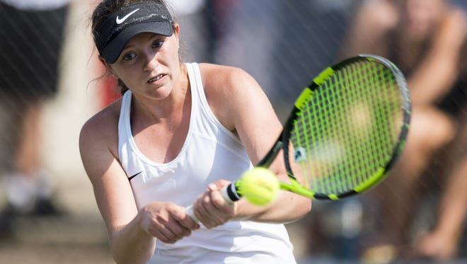 Carmel High School's no. 1 singles player, Lauren Lemonds, will not have a chance to defend her title this sesaon. Lemonds lost 6-1, 0-6, 7-5 to Providence junior Halli Trinkle.