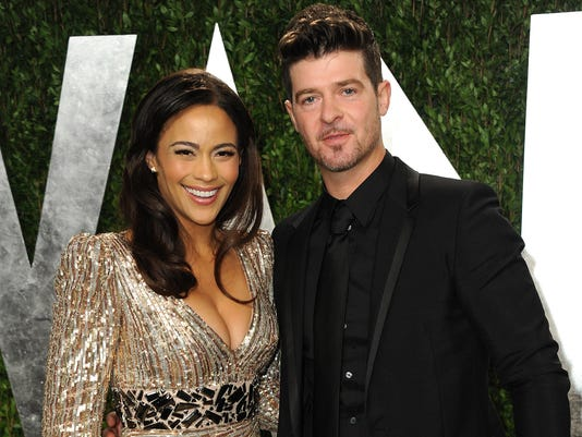 AP PEOPLE-PAULA PATTON-ROBIN THICKE A ENT, FILE USA CA