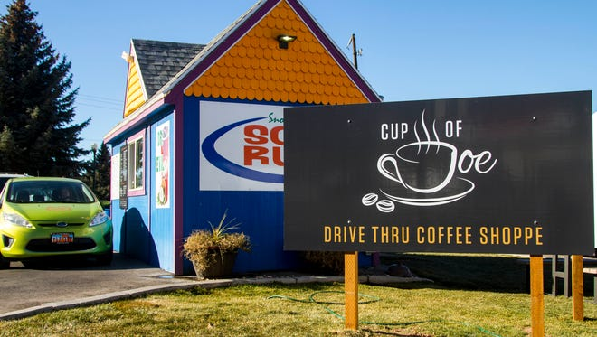 Cup of Joe, located in the Soda Run at College Ave. and Main St. in Cedar City.