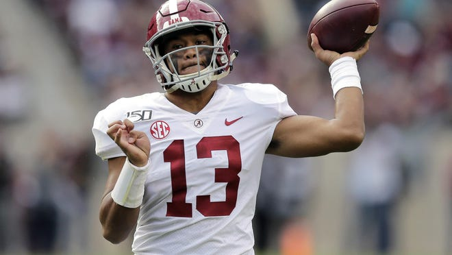 Alabama quarterback Tua Tagovailoa may have been the top pick in the upcoming draft if it were not for numerous setbacks including a season-ending hip injury. The COVID-19 outbreak limited Tagovailoa's meetings with teams.