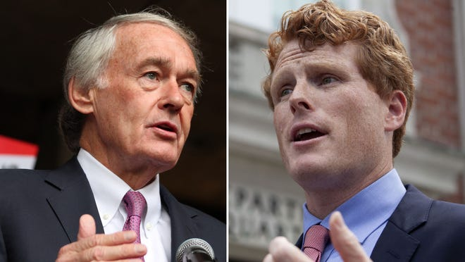 Sen. Edward Markey, left, and U.S. Rep. Joseph Kennedy III will debate for the final time on Tuesday.