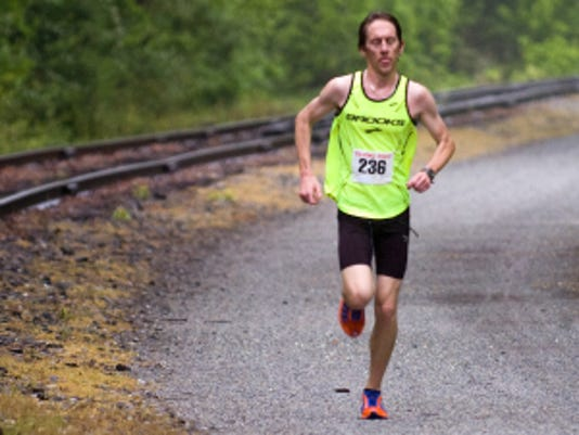 Justin Krebs runs during the 2011 Bob Potts Marathon. This year's event is slated for May 26, and the field has filled up.  (Daily Record/Sunday News -- File)