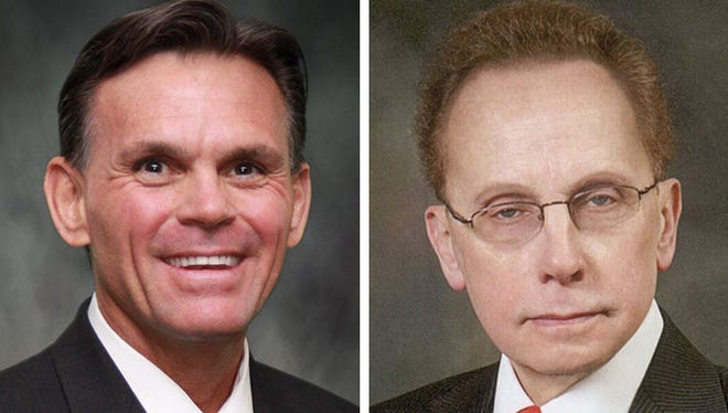 Mark Hackel, left, and Jim Fouts