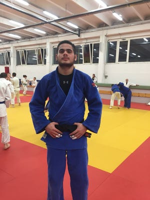 Joshter Andrew, who attends school in Japan, works on his judo game in hopes of qualifying for the 2020 Olympics