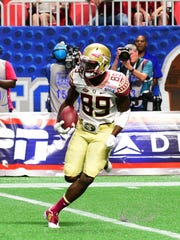 Florida State sophomore wide receiver Keith Gavin led the Seminoles with seven receptions for 50 yards against Alabama's defense.