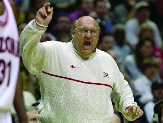 Rick Majerus shouts direction at his University of