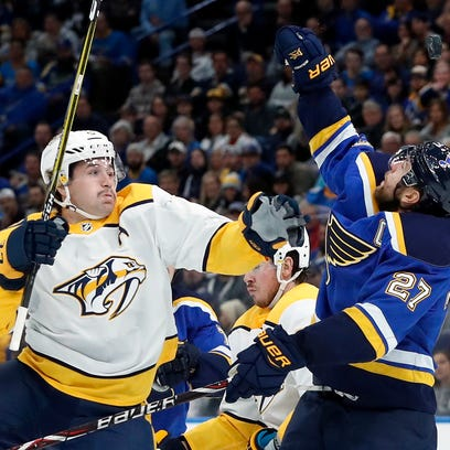 Predators blank Blues, improve to 9-2 in November