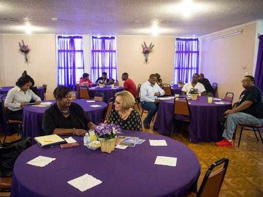 November 3, 2016 - The event at The Healing Center drew about 40 people on Thursday.