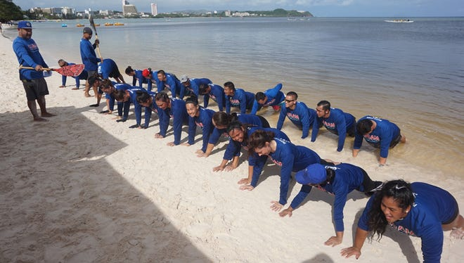 The Guam national paddling team focuses part of their weekly schedule to a unique cross-training regimen they call CarlFit, named after one of their teammates. CarlFit involves intense running and bodyweight movements.