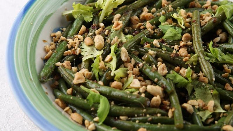 Edward Lee's green beans in brown butter and ginger fish sauce.