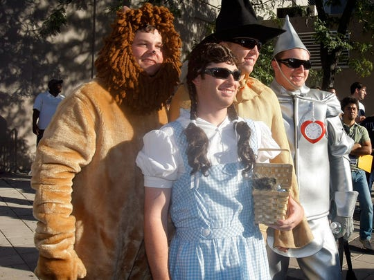 In 2007, New York Yankees rookies Joba Chamberlain dressed as the Lion while Ian Kennedy dressed as Dorothy, outfielder Shelley Duncan as the scarecrow and Phil Hughes as the tin man as a rookie hazing incident at Yankee Stadium.