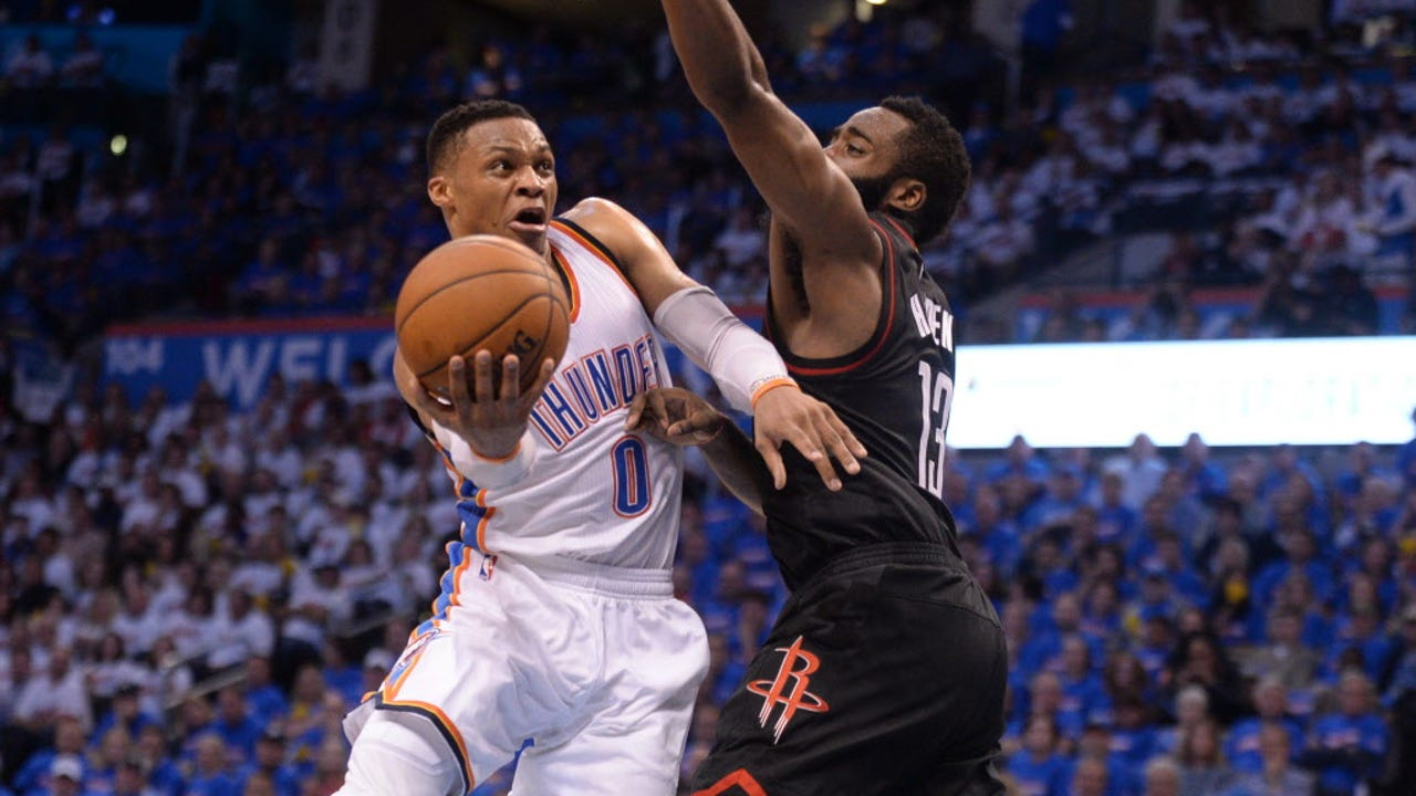 Russell Westbrook got Oklahoma City back into the series with his second consecutive triple-double against Houston.